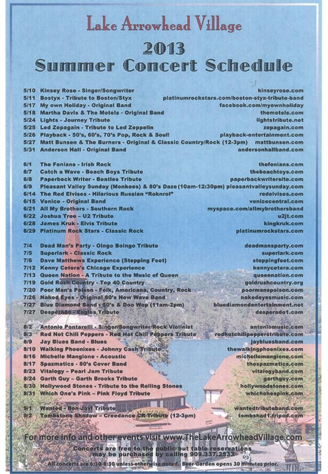 Lake Arrowhead Concerts