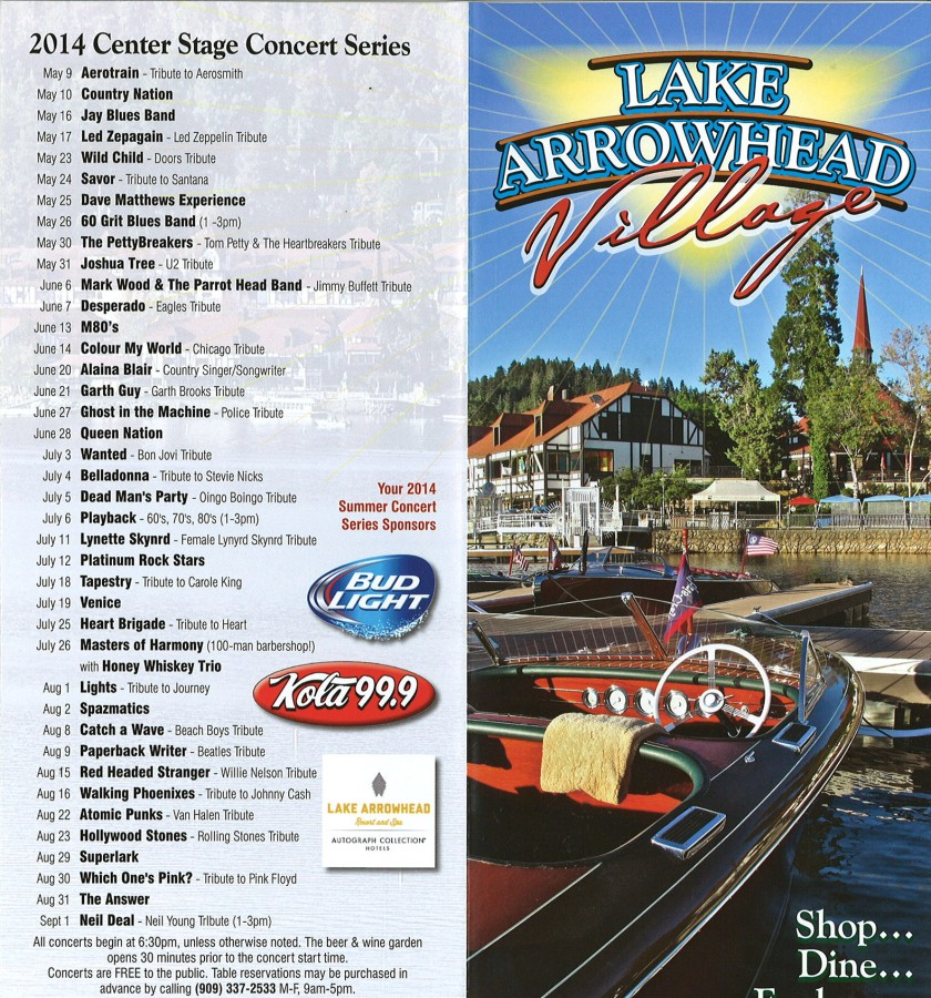 Lake Arrowhead Village Concerts